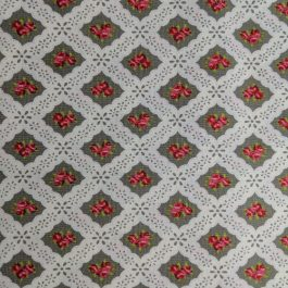 Ambleside by Brenda Riddle for Moda # 18602 Grey Pink White Out of Print Fabric by the 1/2 Yard