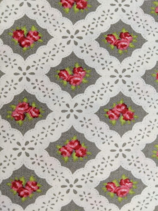 Ambleside by Brenda Riddle for Moda # 18602 Grey Pink White Out of Print Fabric by the 1/2 Yard 3