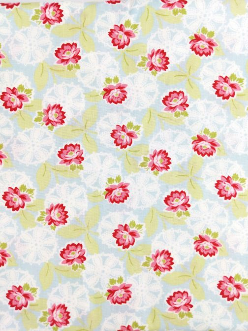Ambleside by Brenda Riddle Designs for Moda #18601 Green, Blue, Pink, Red 1/2 Yard 4
