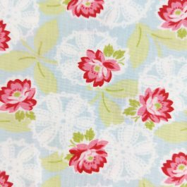 Ambleside by Brenda Riddle Designs for Moda #18601 Green, Blue, Pink, Red 1/2 Yard