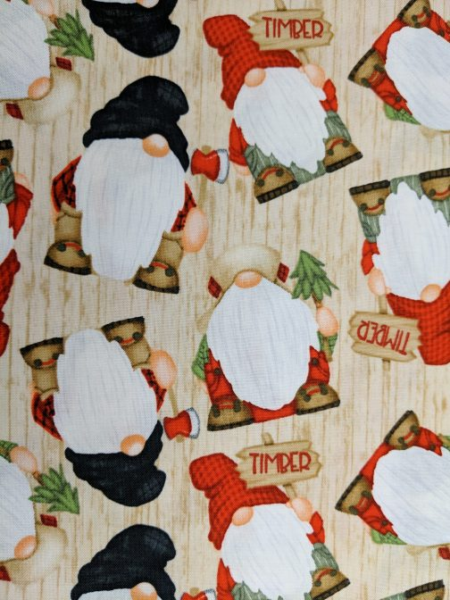 Timber Gnomies Tossed Gnomes by Shelly Comisky for Henry Glass Sold by the 1/2 Yard 5