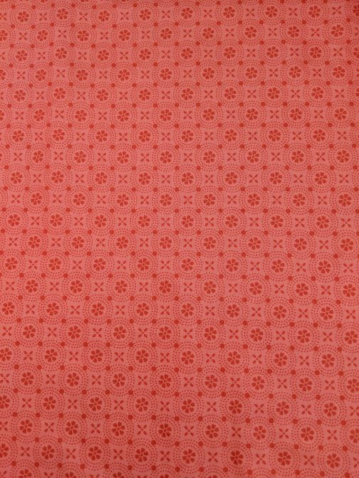 Kimberbell Basics Peachy Pink Dotted Circles by Kimberbell for Maywood Studios Folk Art Floral By the 1/2 Yard 3
