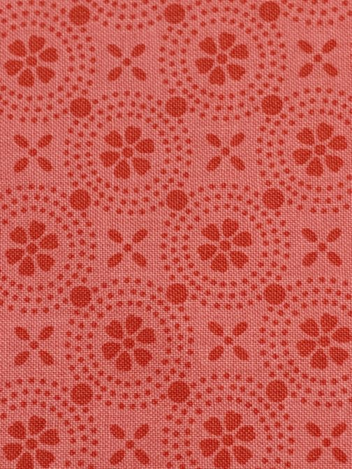 Kimberbell Basics Peachy Pink Dotted Circles by Kimberbell for Maywood Studios Folk Art Floral By the 1/2 Yard 6