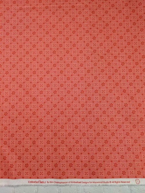 Kimberbell Basics Peachy Pink Dotted Circles by Kimberbell for Maywood Studios Folk Art Floral By the 1/2 Yard 5