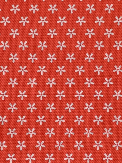 Lori Holt Bee Basics Tiny Daisy Red # C6403 Riley Blake Designs by the 1/2 Yard Red & White Quilting Fabric 2