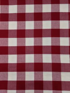 Red & White Buffalo Check 100% Cotton Fabric Sold by the 1/2 Yard A Cheerful Holiday Classic 6