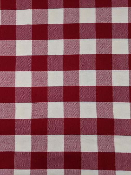 Red & White Buffalo Check 100% Cotton Fabric Sold by the 1/2 Yard A Cheerful Holiday Classic 3