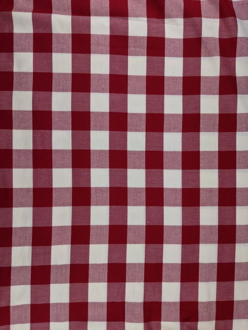 Red & White Buffalo Check 100% Cotton Fabric Sold by the 1/2 Yard A Cheerful Holiday Classic 4
