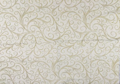 Traditional Christmas Scroll Fabric in Gold by  Beth Ann Bruske for David Textiles Out of Print Fabric Sold by the 1/2 Yard 5