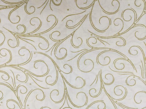 Traditional Christmas Scroll Fabric in Gold by  Beth Ann Bruske for David Textiles Out of Print Fabric Sold by the 1/2 Yard 3