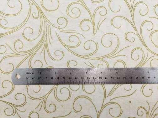 Traditional Christmas Scroll Fabric in Gold by  Beth Ann Bruske for David Textiles Out of Print Fabric Sold by the 1/2 Yard 7