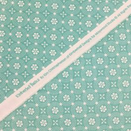 Kimberbell Basics Teal Dotted Circles by Kimberbell for Maywood Studios Folk Art Floral By the 1/2 Yard