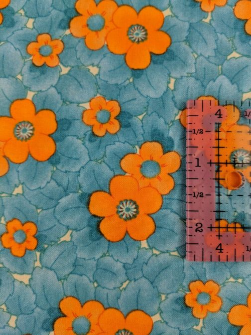 Fresh Squeezed By Sandy Gervais for Moda #17349 Floral Turquoise Orange by the 1/2 Yard 5