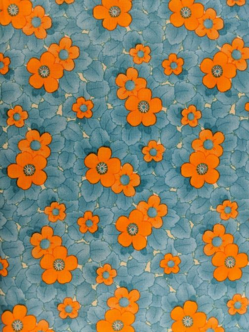 Fresh Squeezed By Sandy Gervais for Moda #17349 Floral Turquoise Orange by the 1/2 Yard 3