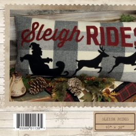 Sleigh Rides by Stacy West Buttermilk Basin BMB1490 Applique Pillow Pattern 16″ x 32″