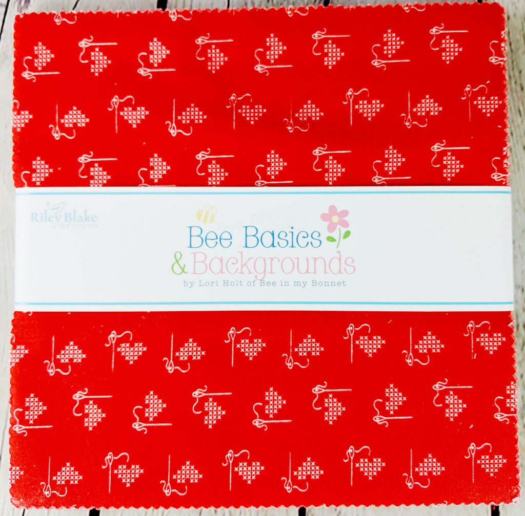 """Bee Basics and Backgrounds Lori Holt Riley Blake Designs 10-6401-42 42pc 10"""" Stack of Bee Basics & Backgrounds Fabrics"""
