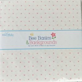 Bee Basics & Backgrounds by Lori Holt of Bee in my Bonnet 10″ Square 42 Piece Stacker White Backgrounds