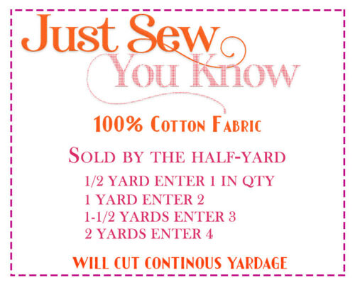 Sold by the half yard - how to order