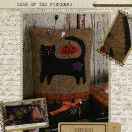 Buttermilk Basin Year of the Pinkeeps October Black Cat Pattern